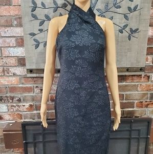 RACHEL ROY Black Midi Dress Size 6